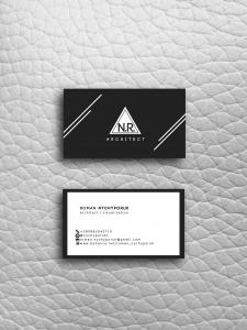 Дизайн визитки для архитектора