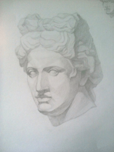 Аполлон Бельведерский. Академический рисунок 2015г