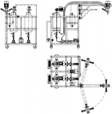 Схема 2-х компонентной ПУ установки