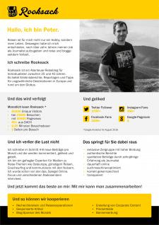 Медіа-кіт для Rooksack.de