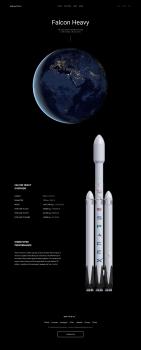 Концепт сайта SpaceX