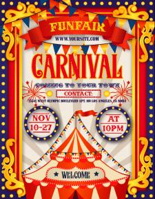 Карнавальный плакат
