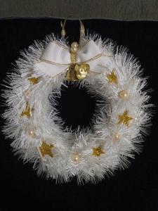 Різдвяний  білосніжний віночок