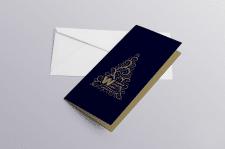 Новогодняя открытка для печати шелкотрафаретом