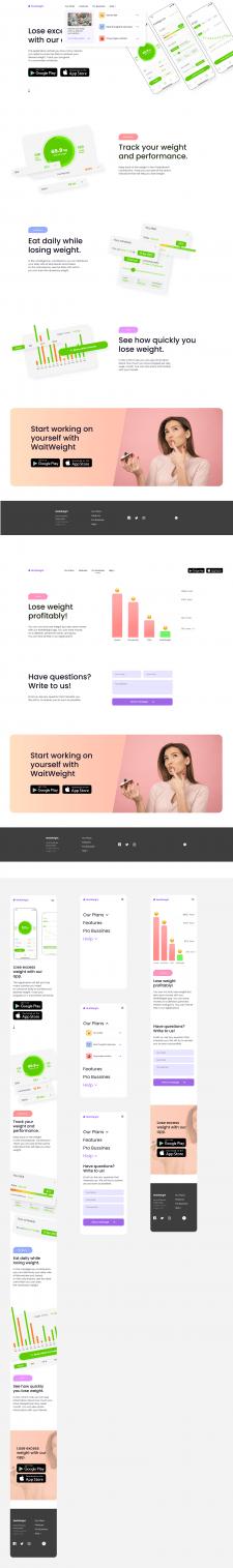 Промо-сайт для мобильного приложения WaitWeight