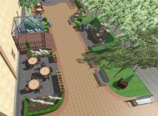 Візуалізація території ресторану