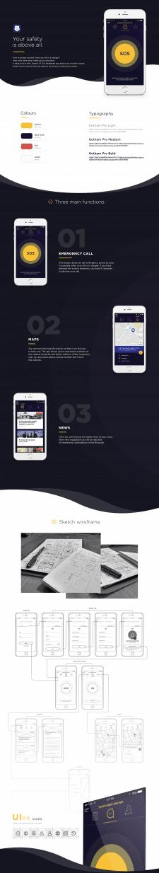 "Mobile app ""My Police"" (UI/UX Design)"