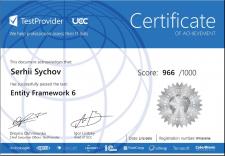 Сертификат Entity Framework 6