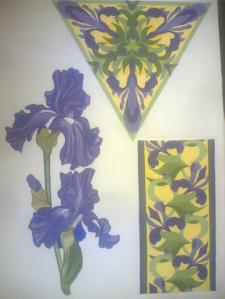 Создание орнамента на основе растит. элем. (гуаш)