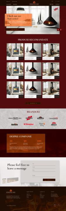 Дизайн интернет-магазина по продаже каминов и пече
