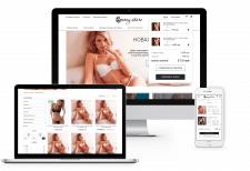 Дизайн интернет - магазина женского белья