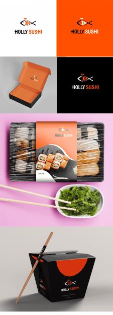Логотип для сайта доставки суши