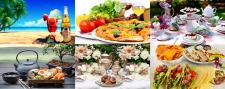 фото-коллаж фотографий для сайта доставки еды