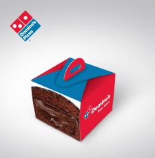 "Упаковка для лава-кейк ""Доминос Пицца""."