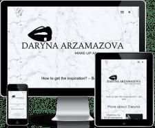 Создание сайта портфолио для стилиста визажиста