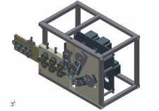 Настольная установка для навивки пружин