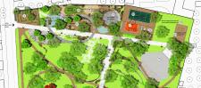 Фрагмент генерального плана парка