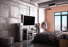 Дизайн проект квартиры студии 90 кв. м. Нью Йорк