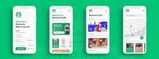 Дизайн приложения Starbucks по продаже кофе