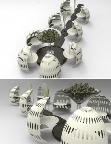 концепт-дизайн летнего кафе