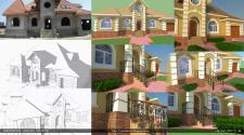 Концепция отделки наружных фасадов дома