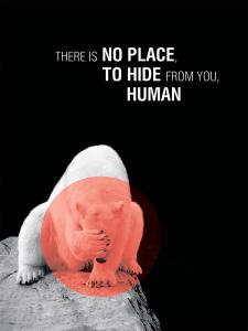 Социальный плакат на тему защиты животных: