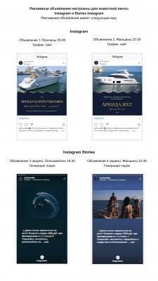 Таргетинг по аренде яхт и катеров в Instagram