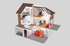Визуализация концепта умного дома для производител