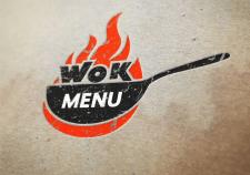 Wok asian food logo.