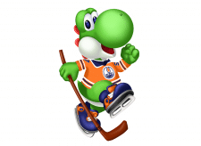 Динозаврик Йоши - хоккеист