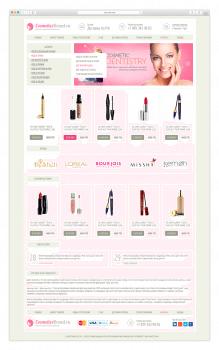 Дизайн сайта - Интернет магазин косметики