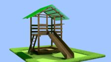 Детски деревянный домик