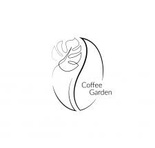 Логотип для кофейни-цветочного