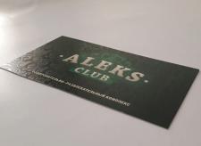 Дизайн визиток для «AleksClub»