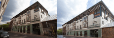 обработка фото здания
