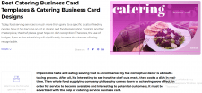 Catering Business Card Templates. Catering Bu