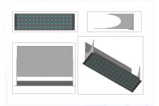 Панель СКС на 60 портов (виды и 3D)