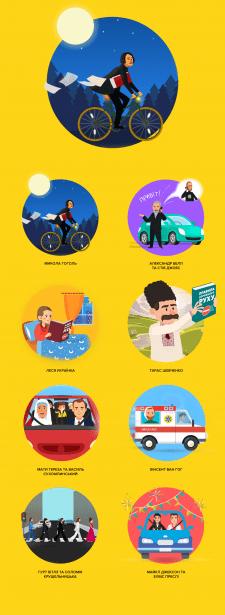 Ілюстрації для діджитал-кампанії