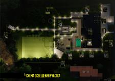 Схема освещения территории