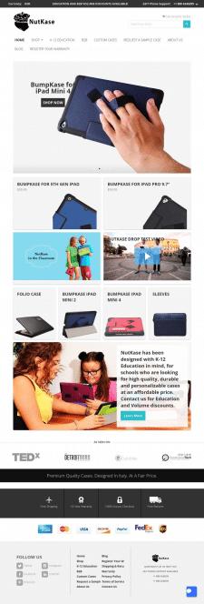 Правки к сайту NutKase (Shopify)