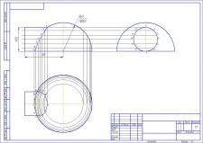 Пересечение полусферы и цилиндра