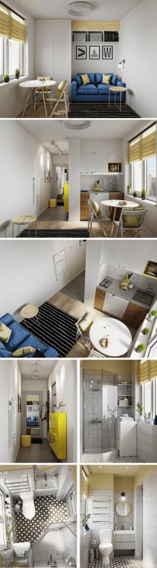 Маленькая квартирка 14 кв м