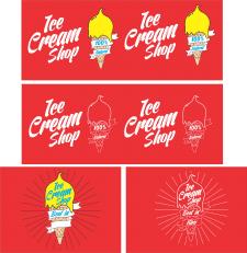 Логотип для магазина живого мороженого!