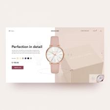 Дизайн первого экрана интернет магазина часов