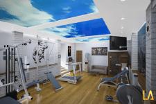 Спортзал в подвале частного дома