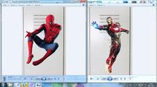 Наклейки с героями Марвел для школьных шкафов