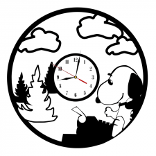 Макет часов для лазерной резки