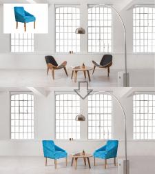 Вставка мебели в интерьер