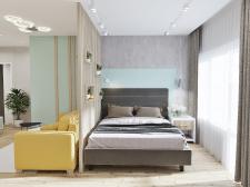 Спальня-гостиная в квартире