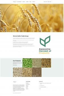 Корпоративный сайт по продаже зерновых культур